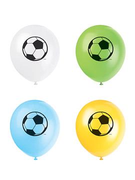 Juego de 8 Globos Balón Fútbol 30 cm