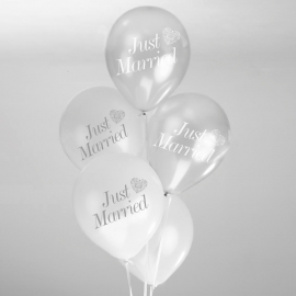Globos Just Married Perla y Plata