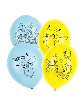 Set de 6 globos de látex de Pokémon