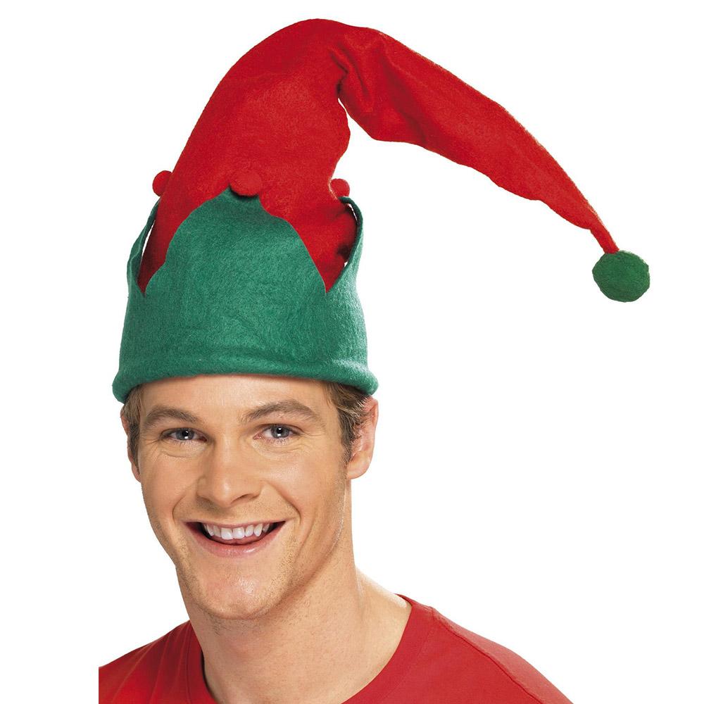 Gorro Elfo Rojo y Verde