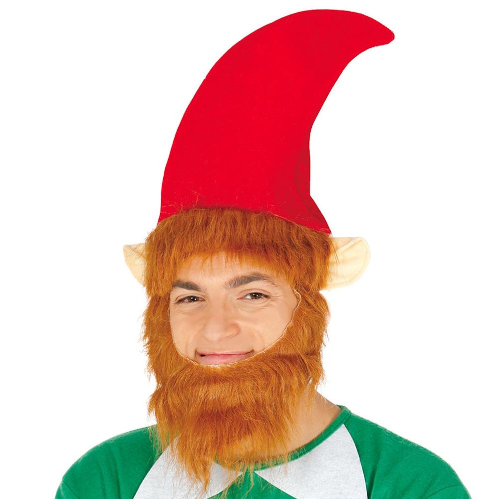 Gorro Rojo Elfo con Barba