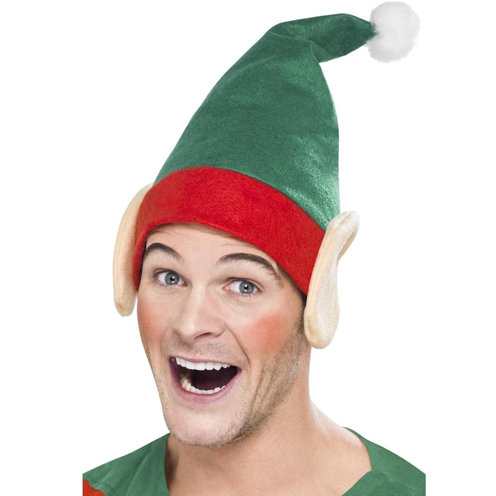 Gorro Verde de Elfo con Orejas