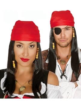 Peluca con Pañuelo Pirata Adulto