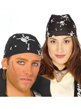 Pañuelo Pirata en Negro