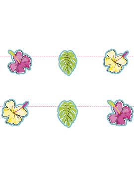 Guirnalda hawaiana con flores de colores de 1,80 m