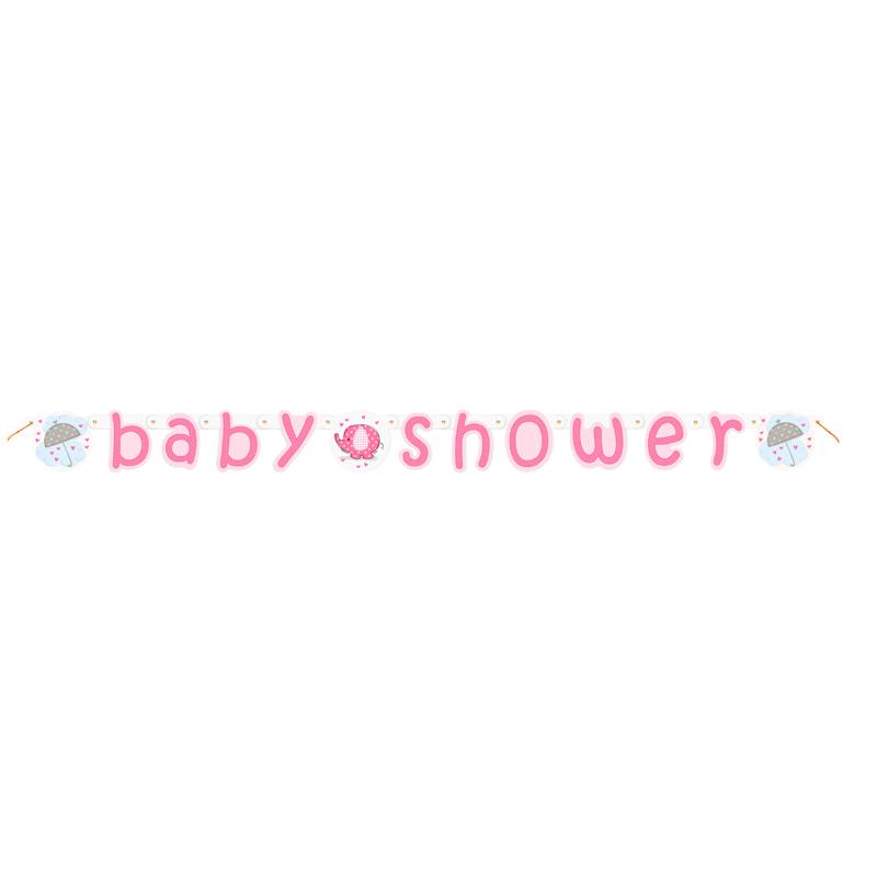 7e953b3b7 Guirnalda Baby Shower Elefante Rosa - Comprar Online  Miles de Fiestas