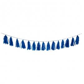 Guirnalda de Borlas Azul Marino