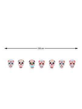 Guirnalda Día de los Muertos 200 cm