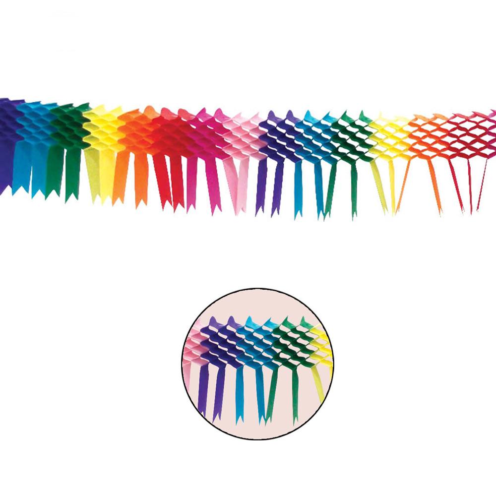 Guirnalda de colores hecha en papel de 3 metros