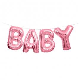 Guirnalda de Globos Baby Rosa