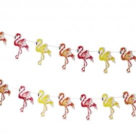 Guirnalda de Papel Flamingo Fun 2 metros