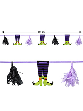 Guirnalda Bruja Halloween 2,74 m