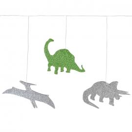 Guirnalda Dinosaurios con Purpurina