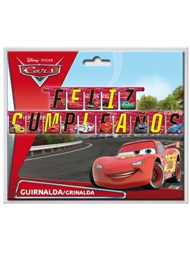 Guirnalda Cartón Feliz Cumpleaños Cars