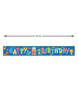 Guirnalda Happy Birthday Animales de la Selva 91 cm