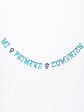 Guirnalda Mi Primera Comunión Niño - Miles de Fiestas