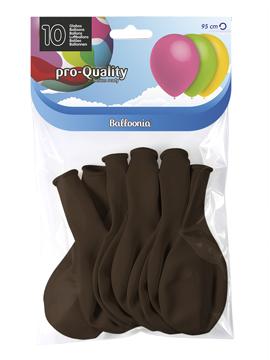 Juego de 10 globos de látex chocolate oscuro mate de 30 cm