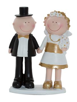 Figura decorativa pareja de novios cogidos de la mano