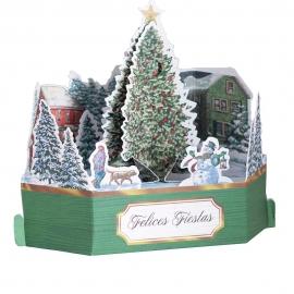 Tarjeta Navidad 3D Modelo B