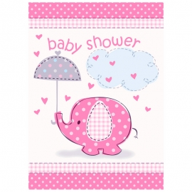 Invitaciones Baby Shower Elefante Rosa