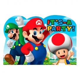 Invitaciones de Cumpleaños Super Mario
