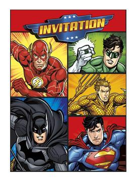 Invitaciones de cumpleaños de La Liga de la Justicia