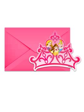Invitaciones Princesas Disney Modelo B