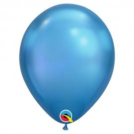 Juego  25 Globos Chrome Azules