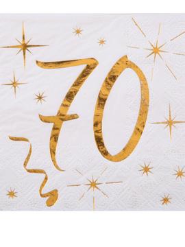 Juego 20 Servilletas Cóctel 70 años