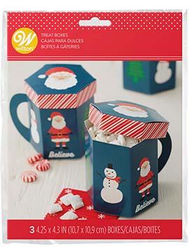Juego 3 Cajas para Dulces Taza Navidad