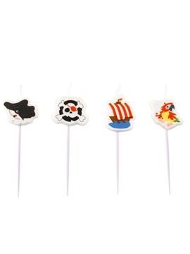 Juego 4 Velas Mini Piratas