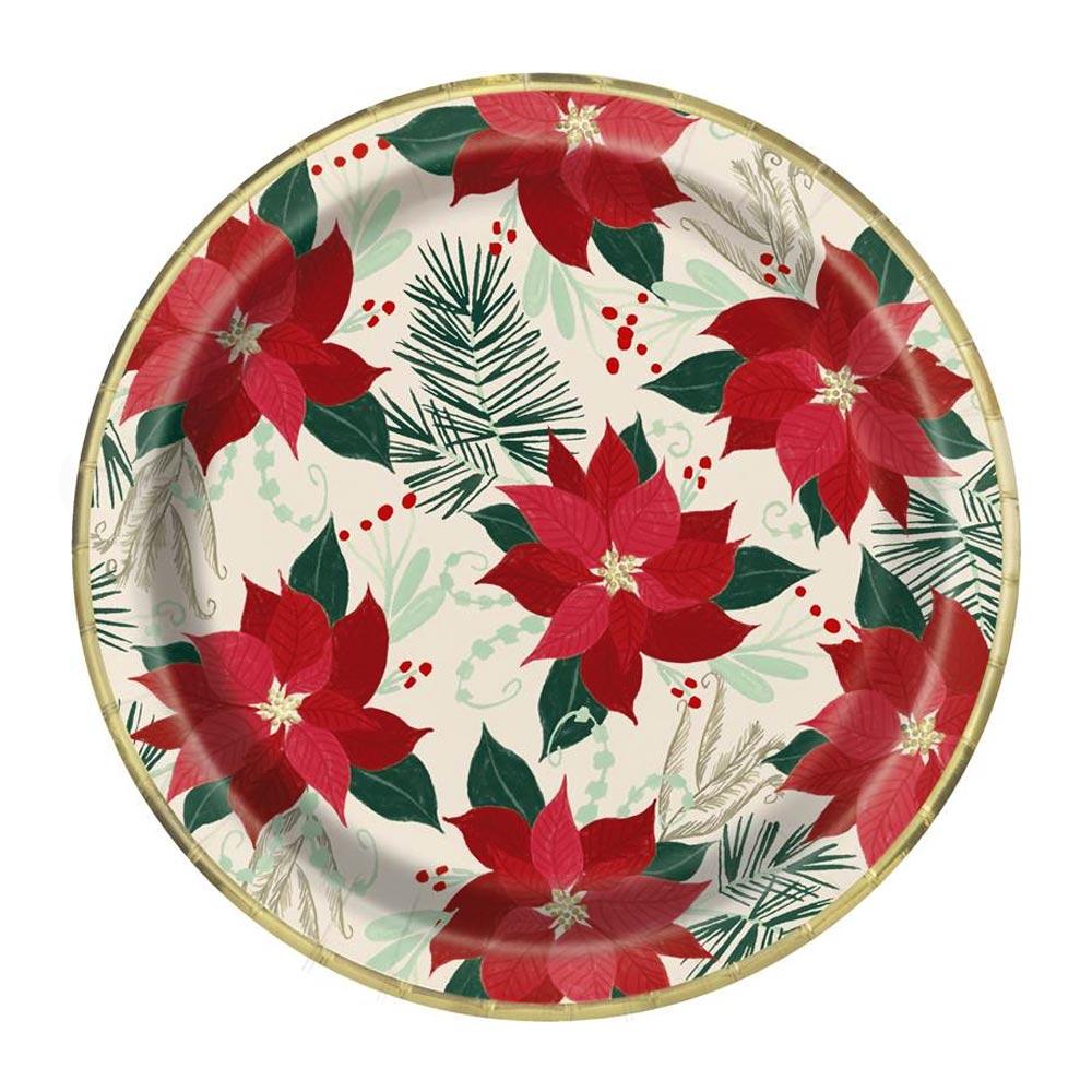 ▷ Juego 8 Platos Flor de Pascua 22 cm 🎄 - Envío 24 horas ✅ 04390ceee00