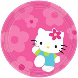 Juego 8 platos Hello Kitty