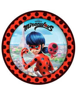 Juego 8 Platos Ladybug Modelo B 23 cm