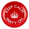 Juego 8 platos rojos Keep Calm