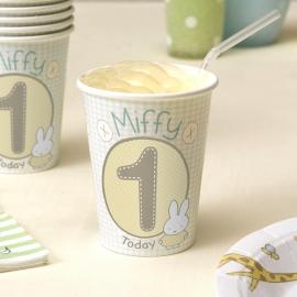Juego 8 vasos Baby Miffy