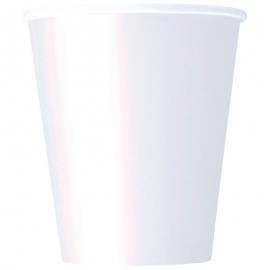 Juego 8 Vasos Blancos