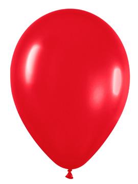 Juego de 10 Globos Rojo Mate