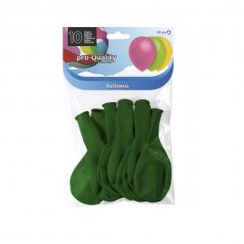 Juego de 10 Globos Verde Bosque 30 cm