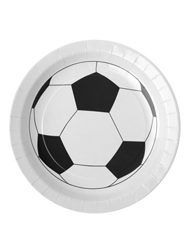 Juego de 10 platos balón de fútbol
