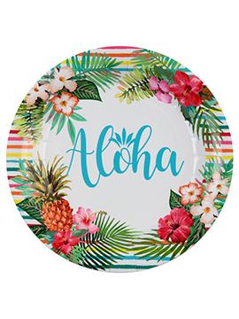 Juego de 10 Platos Fiesta Aloha