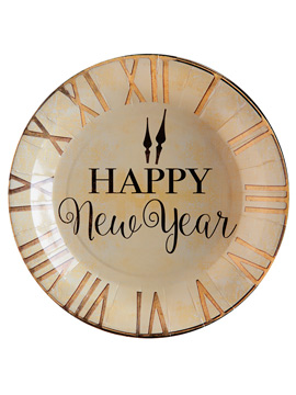Juego de 10 Platos Happy New Year