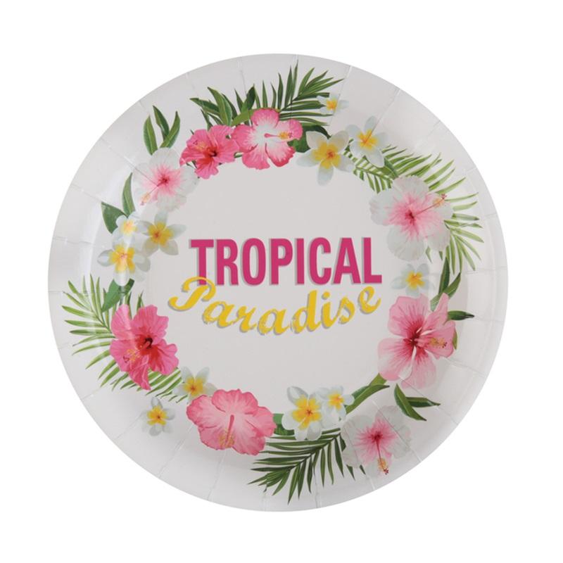 Juego de 10 Platos Paraíso Tropical