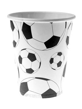 Juego de 10 vasos balón de fútbol