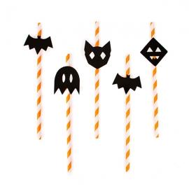 Juego de 12 pajitas Halloween