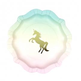 Juego de 12 Platos Unicornio 21cm