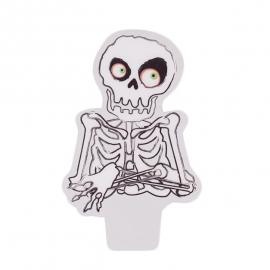 Juego de 12 Toppers Esqueleto - Miles de Fiestas