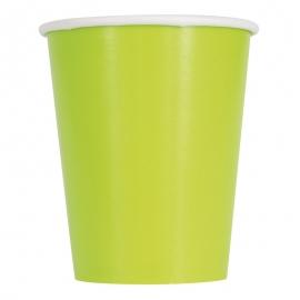 Juego de 14 Vasos Verde Pistacho