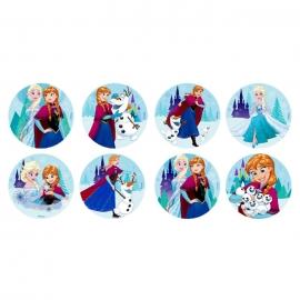 Juego de 16 Discos de Azúcar Frozen