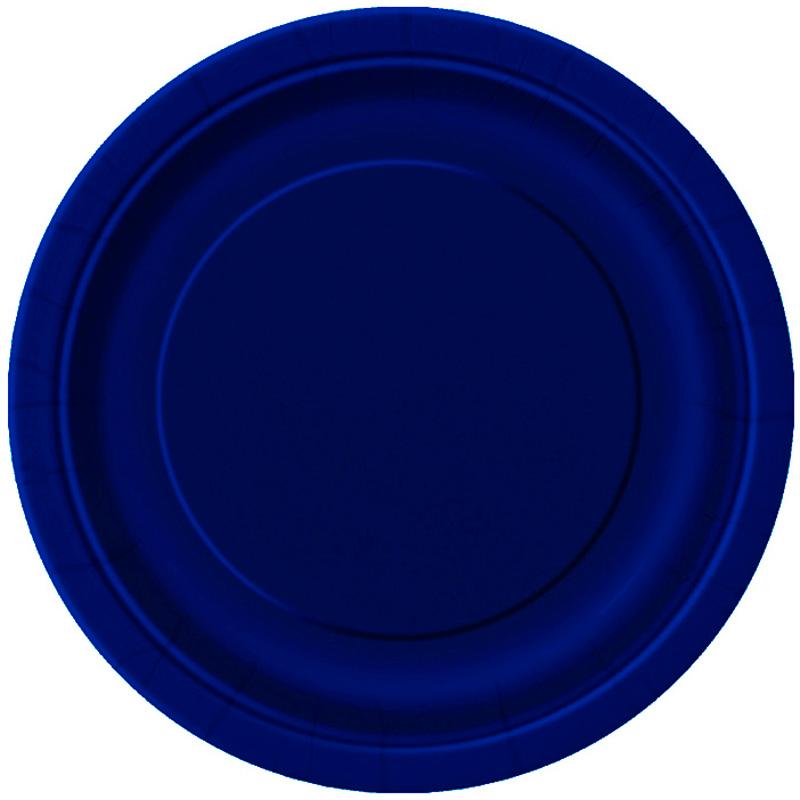 Juego de 16 Platos Azul Marino 22 cm